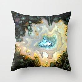 Geode Fairyland - Inverted Art Series Throw Pillow