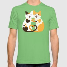 Lovecats Grass X-LARGE Mens Fitted Tee