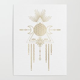 Golden Goddess Mandala Poster