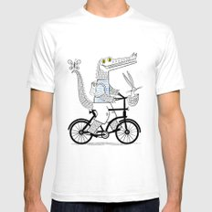 The Crococycle White SMALL Mens Fitted Tee