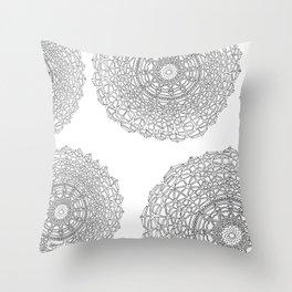 Gathering on White Background Throw Pillow