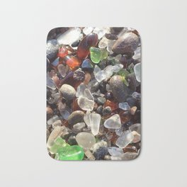 Glass beach California Bath Mat
