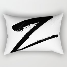 Letter Z Ink Monogram Rectangular Pillow