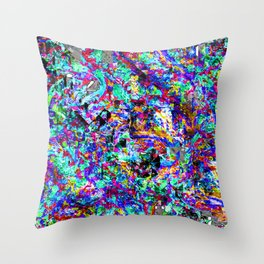 color chaos bywhacky Throw Pillow