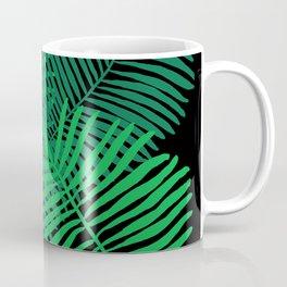 Modern Tropical Palm Leaves Painting black background Coffee Mug