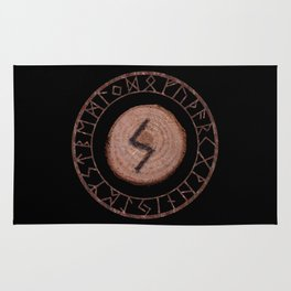 Sowilo Elder Futhark Rune Success, goals achieved, honor. The life-force, health, victory Rug