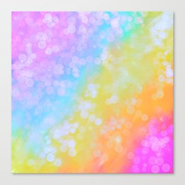 Rainbow Bubble Pop Canvas Print