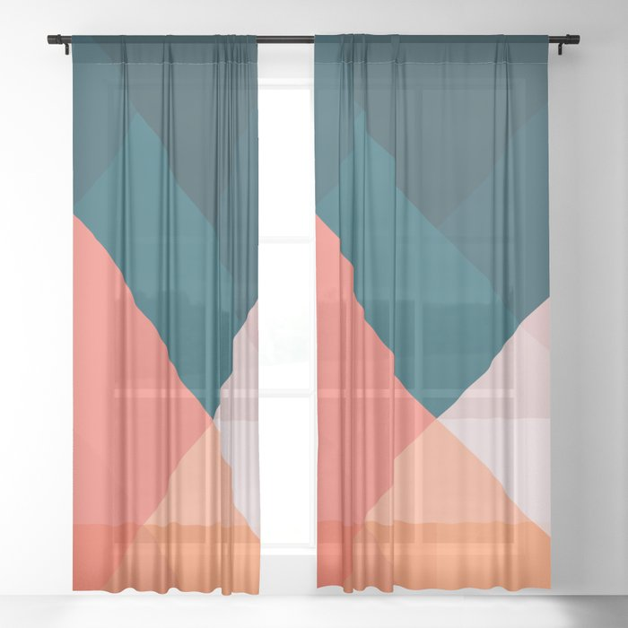 Geometric 1708 Sheer Curtain