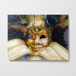 Masking Venice Metal Print