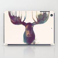 her art iPad Cases featuring Moose by Amy Hamilton