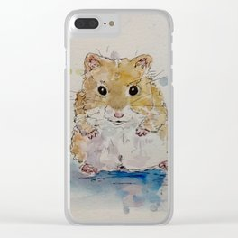 Syrian hamster painting. Clear iPhone Case
