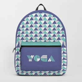 Yoga - typography pattern Backpack