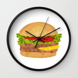 Hamburger Low Polygon Wall Clock