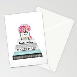 Peony, Peonies, Books, Fashion books, Pink, Teal, Fashion, Fashion art, fashion poster, Stationery Cards