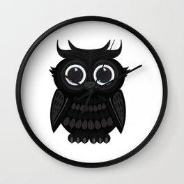 Black Owl Wall Clock