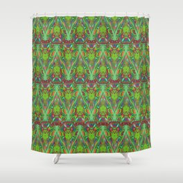 Abstract feathers 1c Shower Curtain