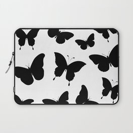 Black and White Butterflies Laptop Sleeve