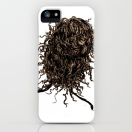Messy dry curly hair 2 iPhone Case