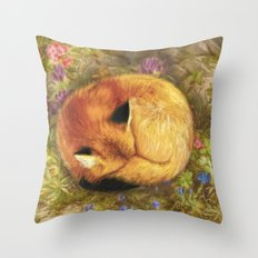 The Cozy Fox Throw Pillow
