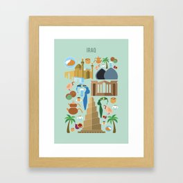 Iraq Illustration Framed Art Print
