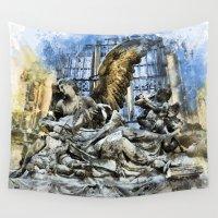 prague Wall Tapestries featuring Prague Angel by jbjart