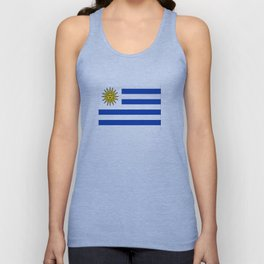 flag of Uruguay-Uruguyan,montevideo,spanish,america,latine,Salto,south america,paysandu,costa,sun,be Unisex Tank Top
