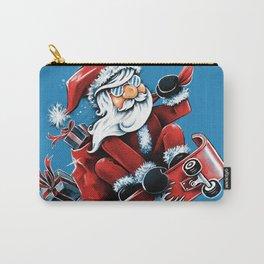 Santa Skateboarding Carry-All Pouch