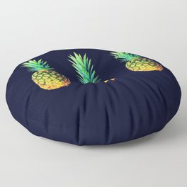Night Knights Pineapples Floor Pillow