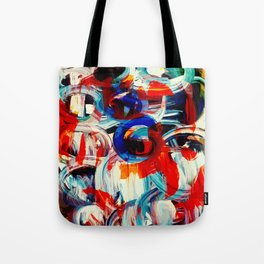 Abstract Action American Painting Tote Bag