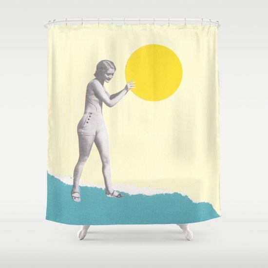 She Caught the Sun Shower Curtain