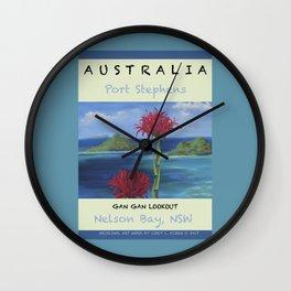 Art Travel Poster Gan Gan Wall Clock
