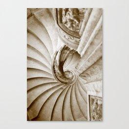 Sand stone spiral staircase 16 Canvas Print