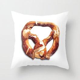 German Soft Pretzel Throw Pillow