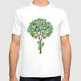 William Morris Tree of Life Pattern, Green & Multi T-shirt