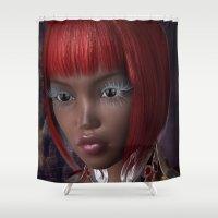 oriental Shower Curtains featuring Oriental Eyes by Brian Raggatt