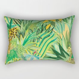 Leopard and a Chita Rectangular Pillow