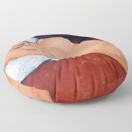 """Amedeo Modigliani """"Female Nude Reclining on a Blue Pillow"""" Floor Pillow"""