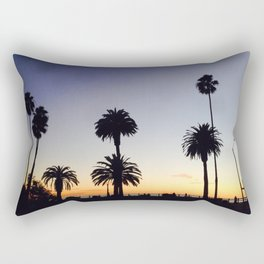 Palm Trees at Sunset Rectangular Pillow