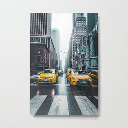 New York City Taxi Cabs Metal Print