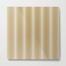 Palm Symmetry - Neutral Green Metal Print