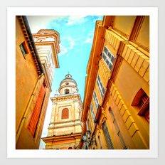 Golden Vieux Nice Art Print