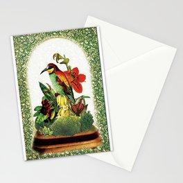 Red Bird Bell Jar Stationery Cards
