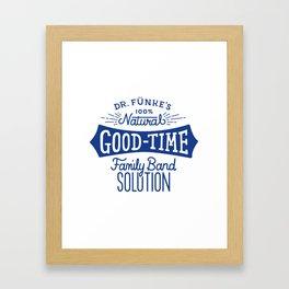Dr. Funke's 100% Natural Good-Time Family Band Solution Framed Art Print