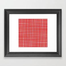 Red Gingham Framed Art Print