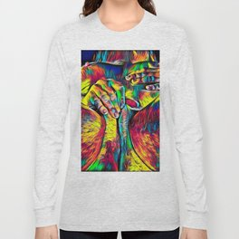 4281s-RES Abstract Pop Color Erotica Pleasuring Psychedelic Yoni Self Love Long Sleeve T-shirt