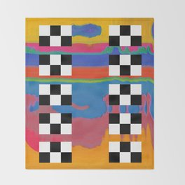 drag scan Throw Blanket