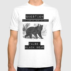 false. black bear White Mens Fitted Tee MEDIUM