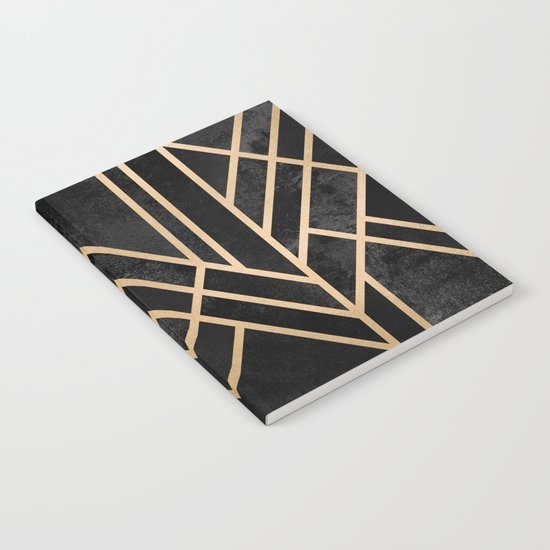 Art Deco Black Notebook