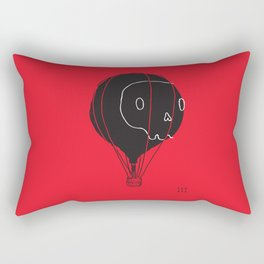 Hot Air Balloon Skull Rectangular Pillow
