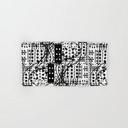 analog synthesizer system - modular black and white Hand & Bath Towel